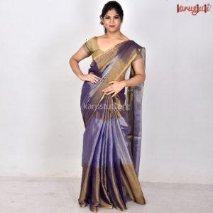 Luxurious Metalic linen Handloom Saree